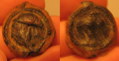 Potin à l'aigle de face et à la tête casquée (CARNUTES) [WM n° 3513] Photo10