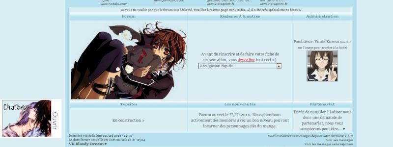 Page d'accueil déformée avec Internet Explorer. /!\ Firefo10