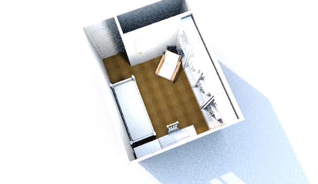 Faire un bureau et une chambre d'amis dans une seul pièce Plan_b10