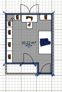 Faire un bureau et une chambre d'amis dans une seul pièce Plan_b14