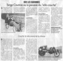 La presse en parle : Cycloutil et le vélocouché Veloco10