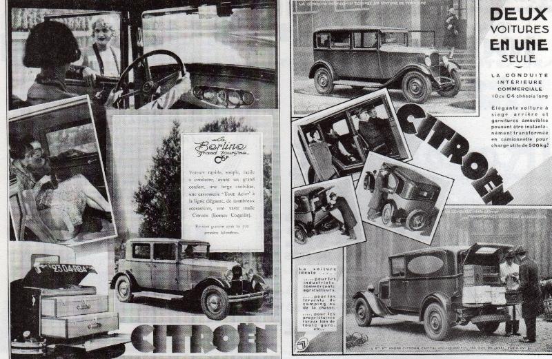 AFFICHES C 4 chassis long et BERLINE C 6 F Citroe13