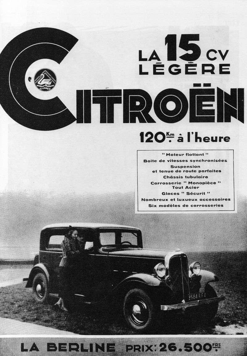 AFFICHES CITROËN 15 CV LEGERE ,Diverses 15cv & 15 cv 6cyl grand luxe Citroe15