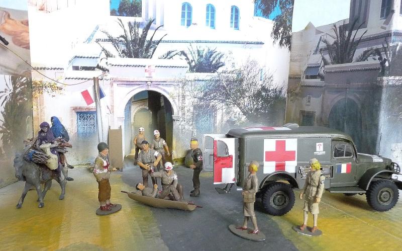 ITALERI 1/35-  AMBULANCE WC 54 -  1ére Armée française - P1040213