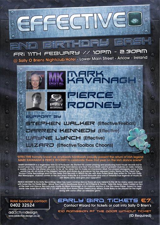 EFFECTIVE 2nd B Day Bash - Mark Kavanagh & Pierce Rooney Effect10