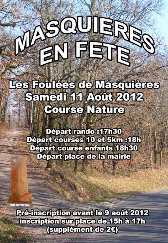 Foulées Nature de Masquières, 11/08/2012 Masqui10
