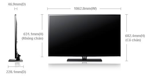 [Bán Trả Góp] Tivi 46in SAMSUNG Full HD - Kết nối Wi-Fi Internet Ua46es10