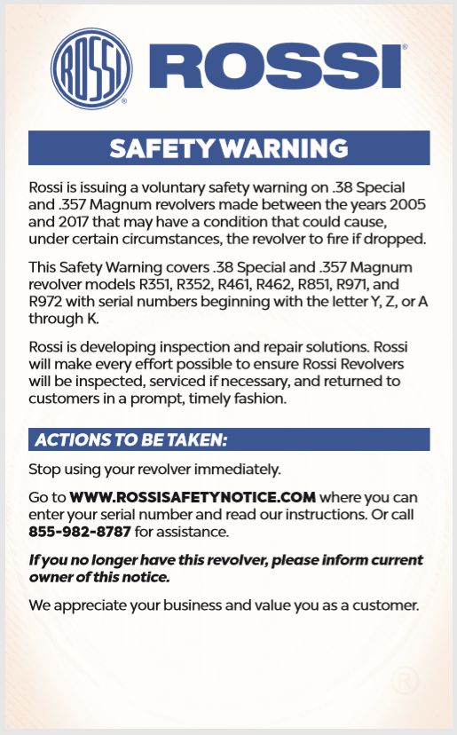 rossi safety warning 683d0010