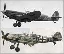 Maquettes de matériels militaires aéronautiques.