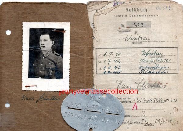 Soldbuch Feldwebel Feldgendarmerie-Abteilung (mot 696) Russie Grèce Croatie B211