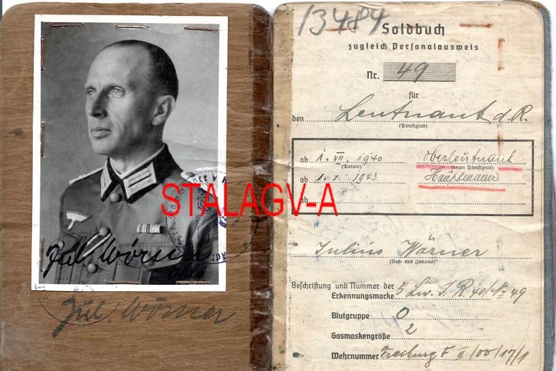 Soldbuch  Hauptmann Campagne de France et STALAG V-A Img20256
