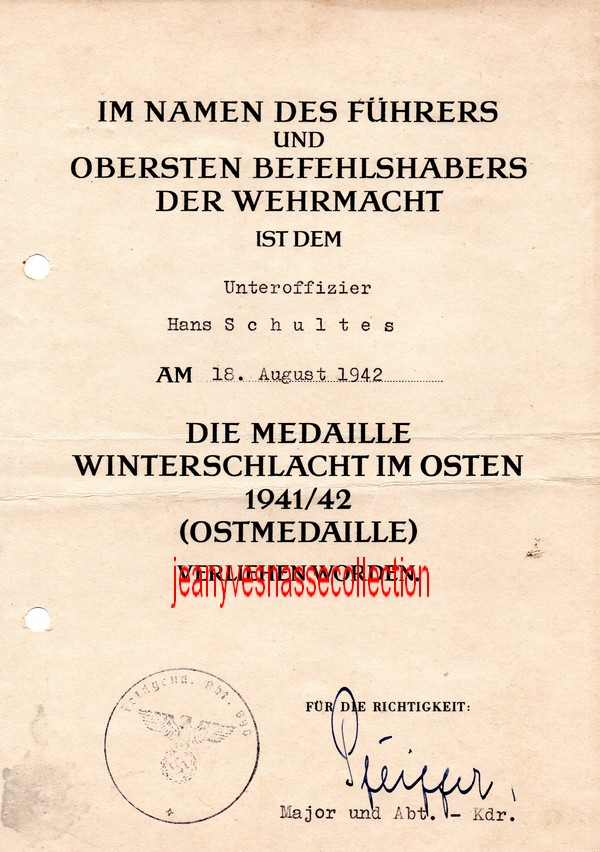 Soldbuch Feldwebel Feldgendarmerie-Abteilung (mot 696) Russie Grèce Croatie L1111