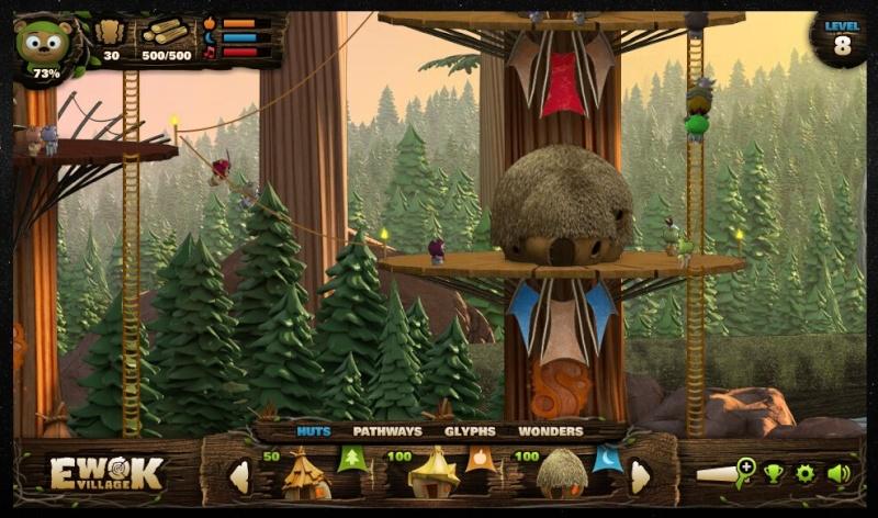 Ewok Village game on Starwars.com Ewok-g10
