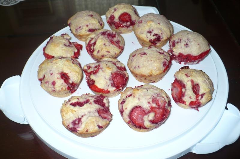 muffins fraises et framboises Muffin11