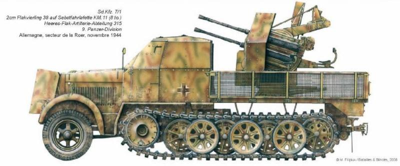FLAK ABTEILUNG (Détachement de DCA) Pz.Div. type 44 Batail10