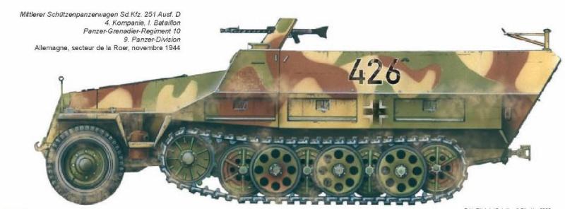 PANZERGRENADIER REGIMENT 1/2 (blindé/motorisé) Pz.Div. type 44 Batail11