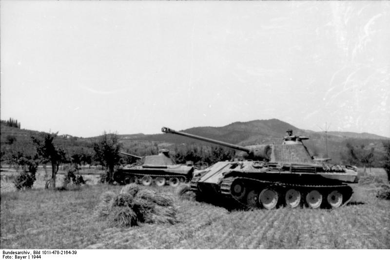 Reportage Bundesarchiv - Panther - Italie Mai 1944 Bundes87