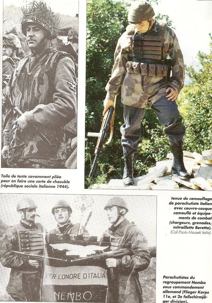 LA TOILE ITALIENNE dans l'armée Allemande - Doc Numari55