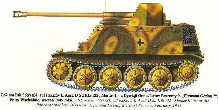 PANZERJÄGER ABTEILUNG  - Pz.Div. type 44 Panzer76