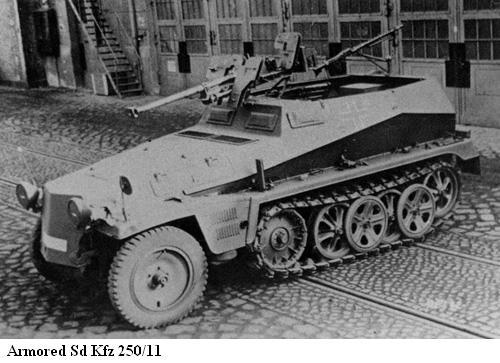 SdKfz 250 - Sonderkraftfahrzeug 250 Sdkfz215