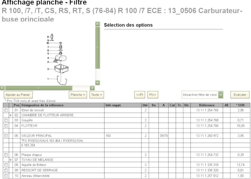 Nouvelles pieces carbu r100/7 1980 BING Teiles10