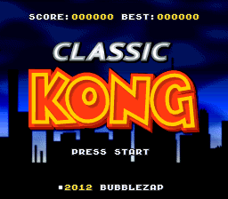 Classic Kong (snes remake) Game_010