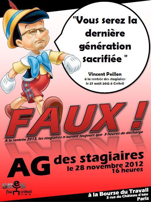 AG des stagiaires le 28 novembre 2012 à la bourse du travail de Paris. 60709_10