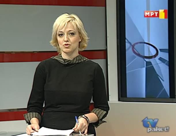 Тања Атанасовска како водител во МРТ1 B110