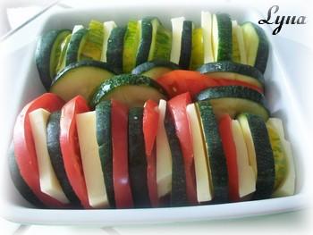 Tranches de courgettes et tomates gratinées Courge14