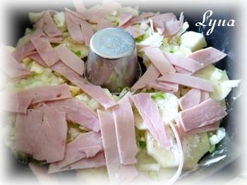 Gratin de jambon blanc et pommes de terre - sans le bras central - Actifry Gratin10