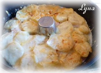 Gratin de jambon blanc et pommes de terre - sans le bras central - Actifry Gratin12