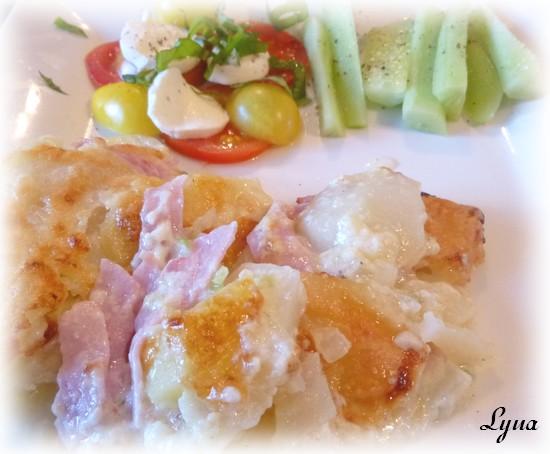 Gratin de jambon blanc et pommes de terre - sans le bras central - Actifry Gratin14