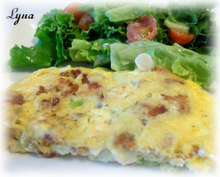 Omelette aux trois fromage et bacon Omelet10