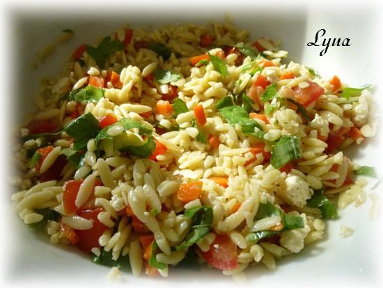 Salade d'orzo au feta et fines herbes Salade16