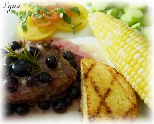 Sauce à la fleur d'ail et bleuets pour viandes Sauce_10