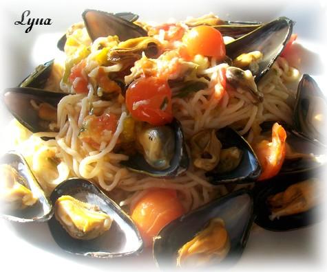 Spaghetti aux moules Spaghe11