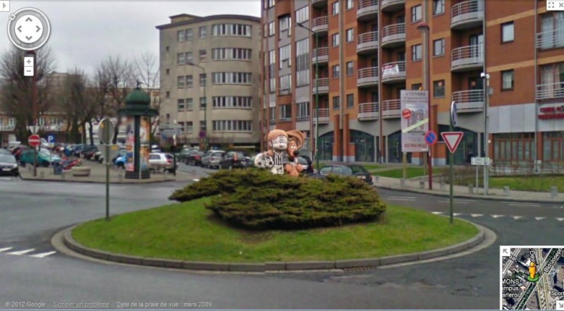 STREET VIEW : Lucky Luke Charleroi Belgique Boulee10