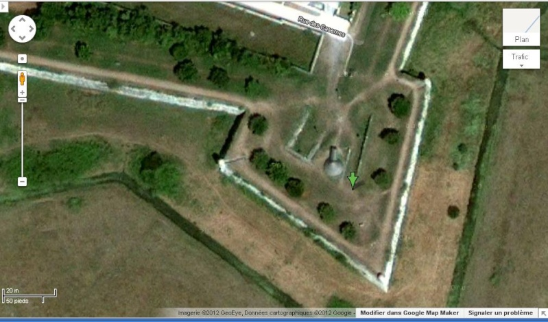 Les glacières découvertes avec Google Earth Brouag10