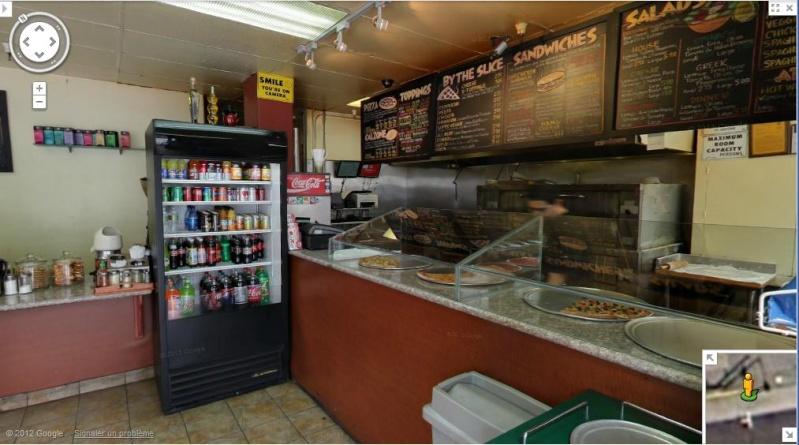 STREET VIEW: Batiments, les intérieurs Pizza110