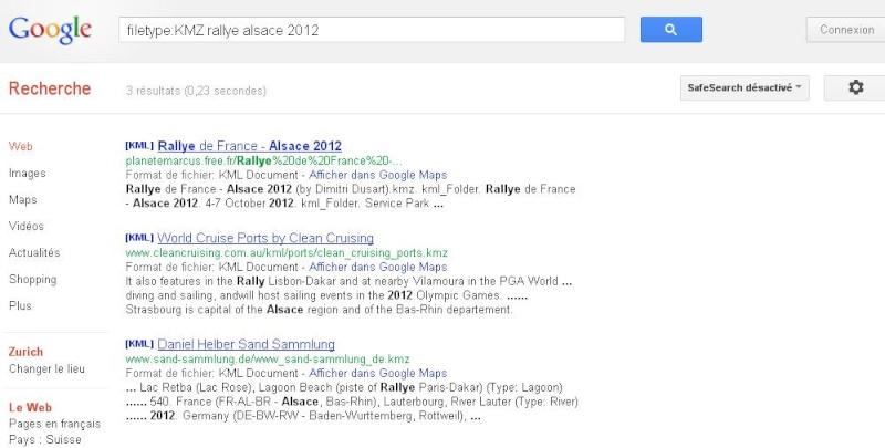 [TUTORIEL] FILETYPE : Comment trouver vos fichiers KML KMZ GPX  etc..... avec Google ? Rallye10