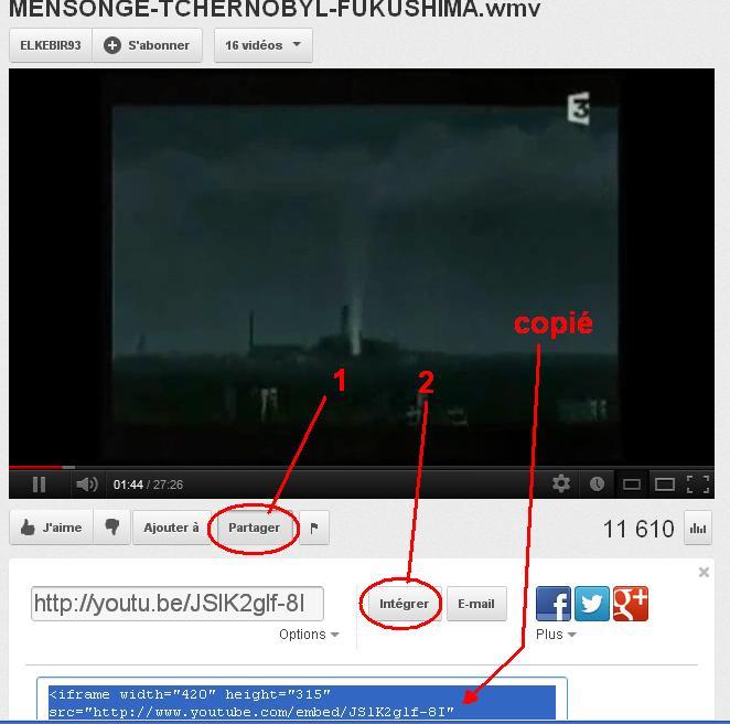 Tuto pour insérer une vidéo sur le forum - Page 2 Youtub12
