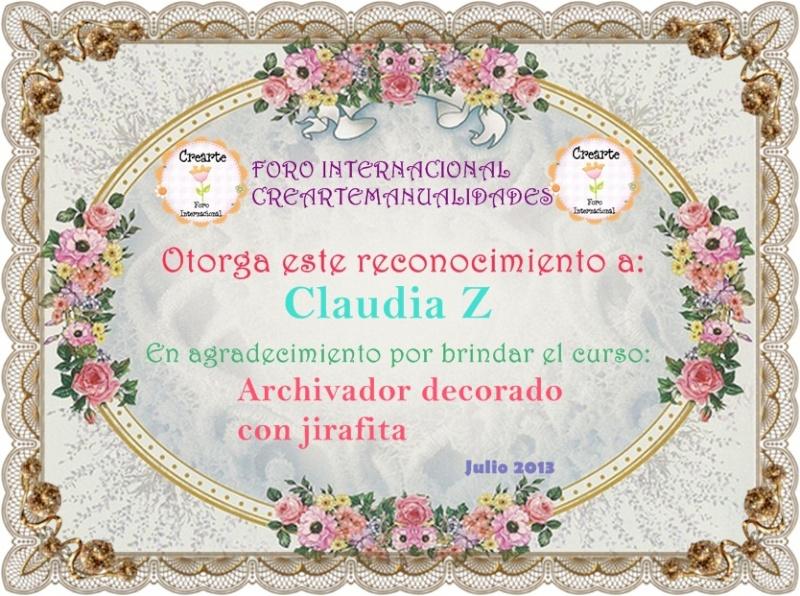 Nuestro agradecimiento a Claudia Z. 212