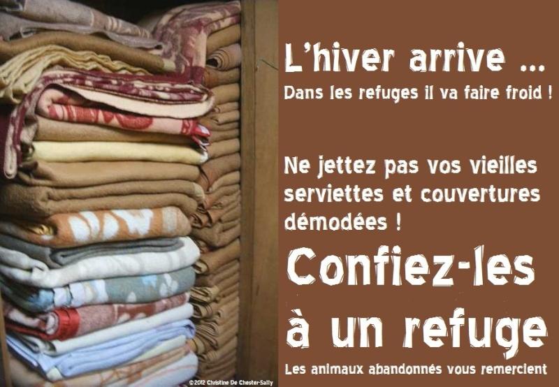 L'HIVER SERA BIENTOT LA ,  recherches paniers et couvertures Couver10