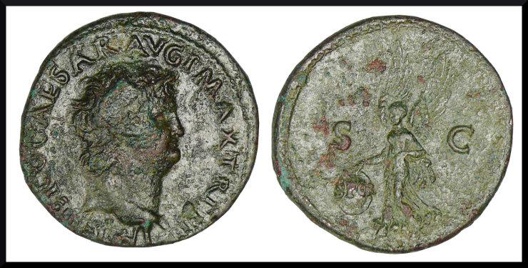 As de Neron et sesterce de Trajan à vendre .... As_de_10