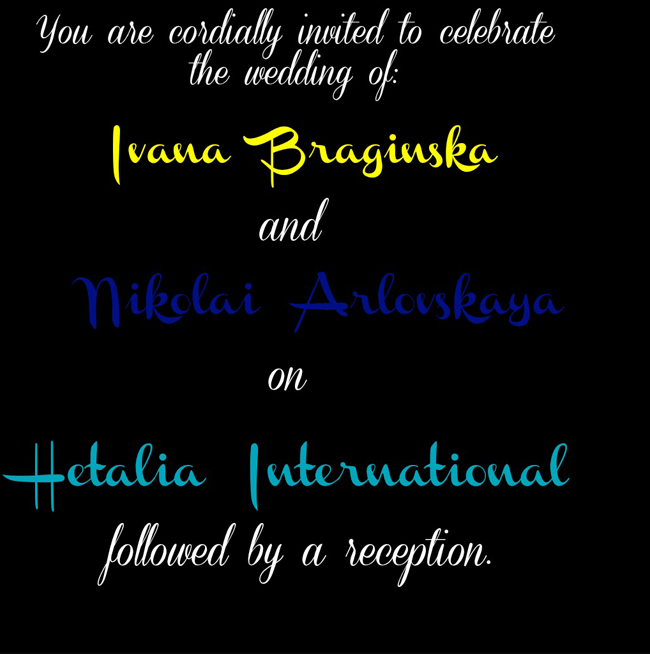 Together Forever~[A NyoBelRus Wedding- Everyone is welcome!] Weddin10