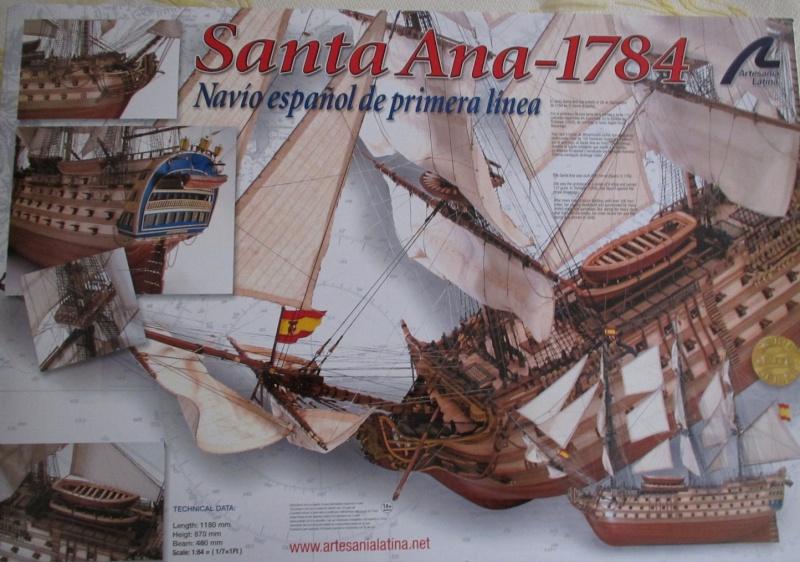 Navire de première ligne espagnol LE SANTA ANA 1/84 d'Artesania Latina Img_1944