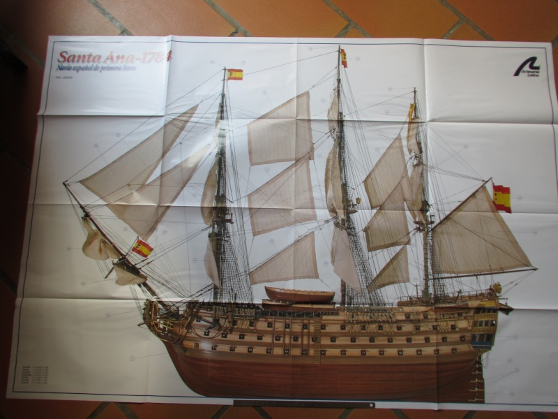 Navire de première ligne espagnol LE SANTA ANA 1/84 d'Artesania Latina Img_1952