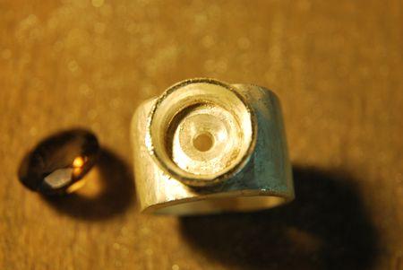 Chevalière quartz fumé Dsc_1514