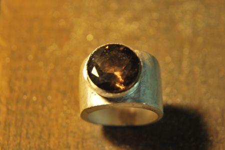 Chevalière quartz fumé Dsc_1515
