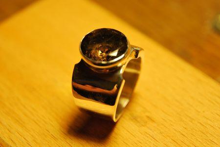 Chevalière quartz fumé Dsc_1516